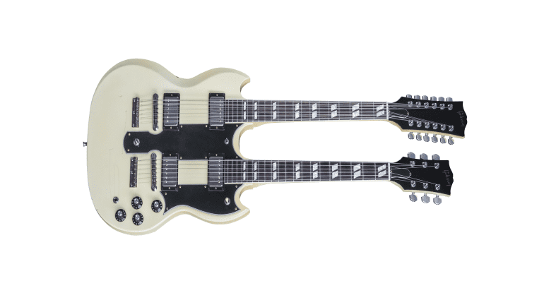 Gibson Lifeson EDS-1275 double neck. 1970s boat anchor anyone?