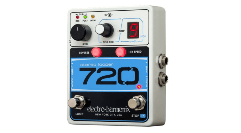 New from Electro Harmonix is the 720 Stereo Looper pedal. Which has 12 minutes of stereo recording time available on 10 independent loops with unlimited overdubs. So great for creative guitar and bass players and also for live performance.