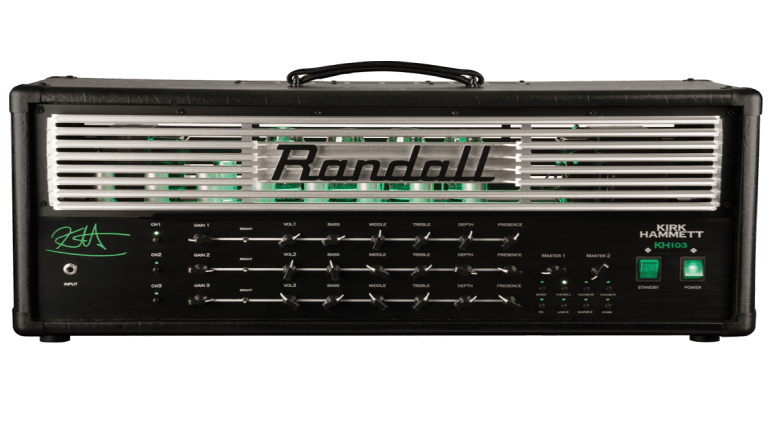 New KH103 Kirk Hammett Signature head from Randall Amps