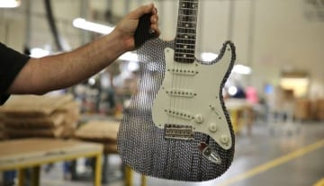 Cardboard Stratocaster
