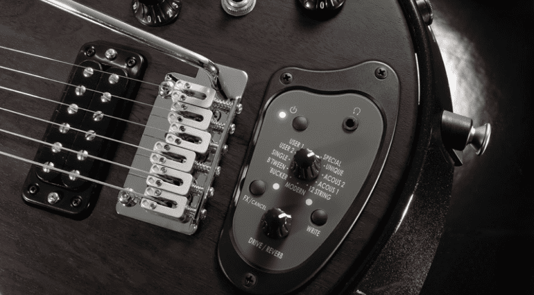 An old 1960's classic Vox guitar updated for the modern age. The new Starstream Type-1 has 27 sounds and onboard effects.