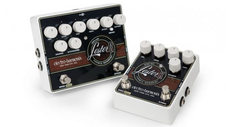 Electro-Harmonix have just announced a pair of rotary speaker emulation pedals. The two models are the Lester G and the Lester K Stereo.