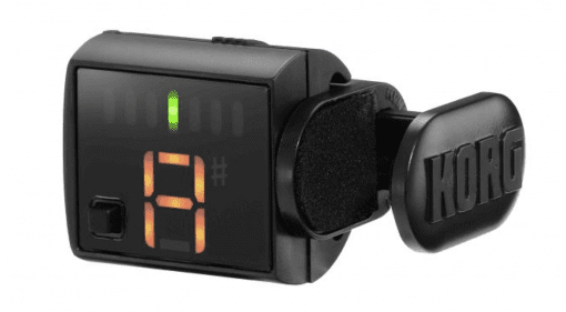 So Korg are debuting a new model of mini clip on tuner called the Grip Tune and also doing a limited run of their ever popular Pitch Black tuner in a brushed nickel finish. The company are well known for their tuners and have a long history of making good quality stage worthy models from rack versions down to pedals.