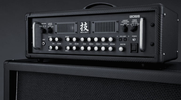 Just announced Boss Waza amp head and matching cabinets
