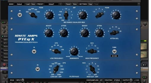 64 and 32 bit Virtual Classic EQ plugin AU, VST