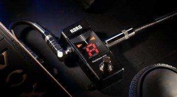 Korg Mini Pitchblack tuner strobe half strobe needle buffered true bypass battery power 9v PSU external accurate +/- 0.1 percent