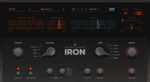 IRON VST AU virtual guitar plugin DAW