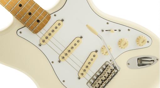 Fender Authentic Hendrix Strat White Black Jimi Mexico Mexican Reverse Headstock bridge pickup