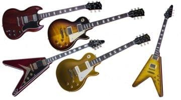 Gibson Custom Shop 2016 range Historic Standard Modern Era Les Paul SG Flying V Axcess Floyd Rose