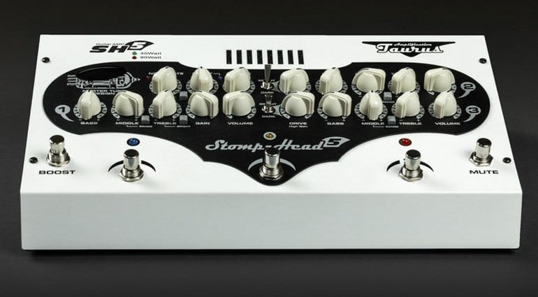 Taurus Stomp-Head 5 pedal under 3kg Made in Poland 12AX7 tube
