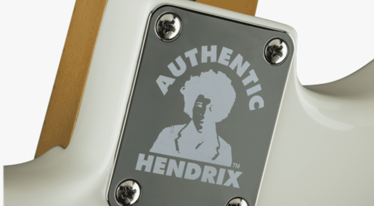 Fender Authentic Hendrix Strat White Black Jimi Mexico Mexican Reverse Headstock bridge pickup