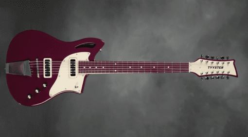 Tyyster Pelti 12-String Finnish metal purple electric guitar