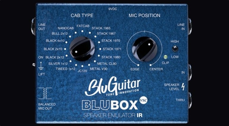 BluBOX Speaker simulator. 16 Virtual cabs in a handy pedal sized unit.