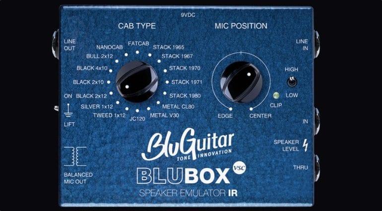 BluBOX Speaker simulator. 16 Virtual cabs in a handy pedal sized unit.