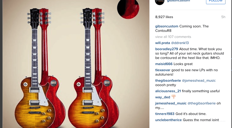 Instagram New Gibson Custom Shop ContouR8