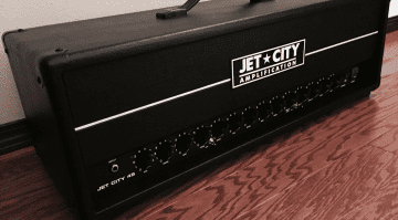 Jet City 45 prototype amp valve head