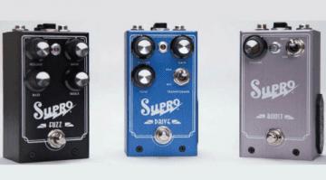 Musikmesse Supro pedals, USA fuzz Drive Boost external foot control true bypass