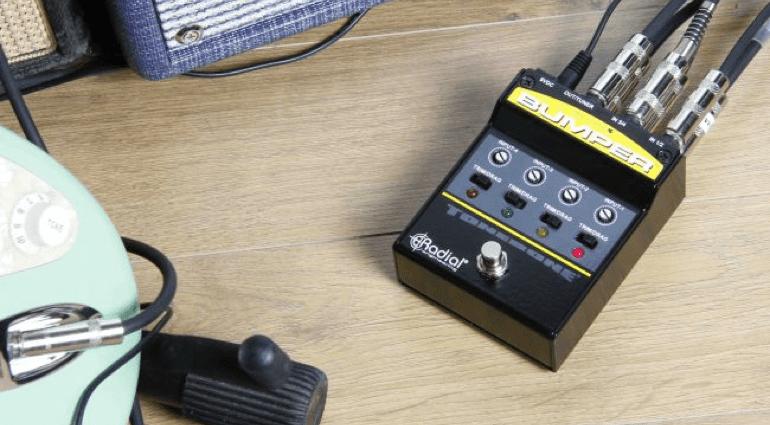 Radial Engineering Canada Bumper Headlight switcher pedal amp multi guitar pasive active box