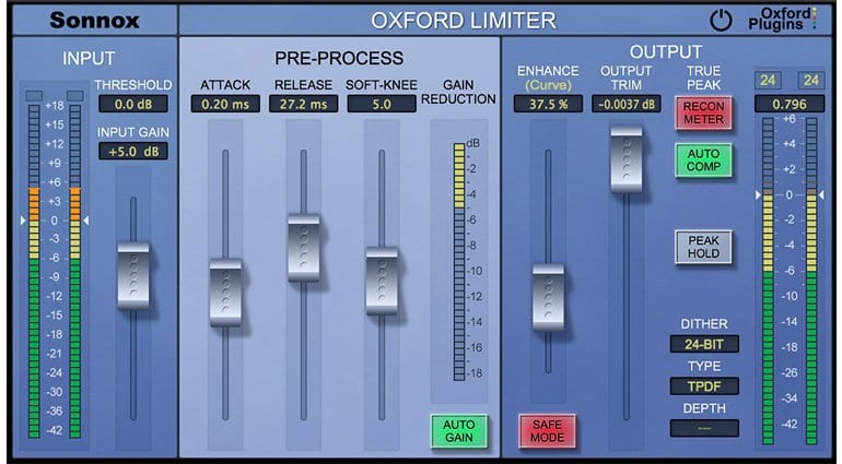 Universal Audio releases Sonnox Oxford Limiter v2 Plugin