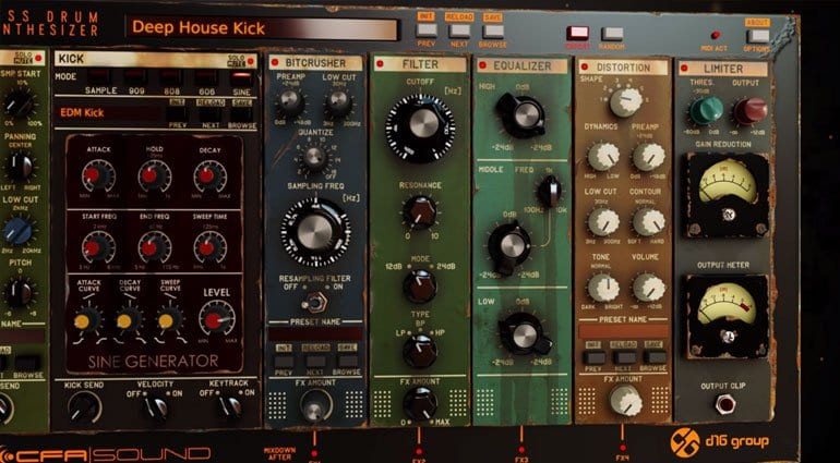 D16 PunchBox Bass Drum Synthesizer