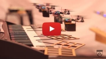 Drones playing James Bond movie soundtrack 770x425