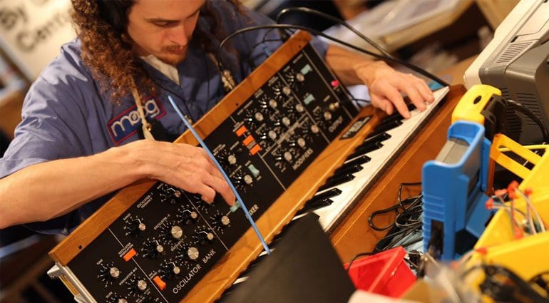 Moog Minimoog Model D under test