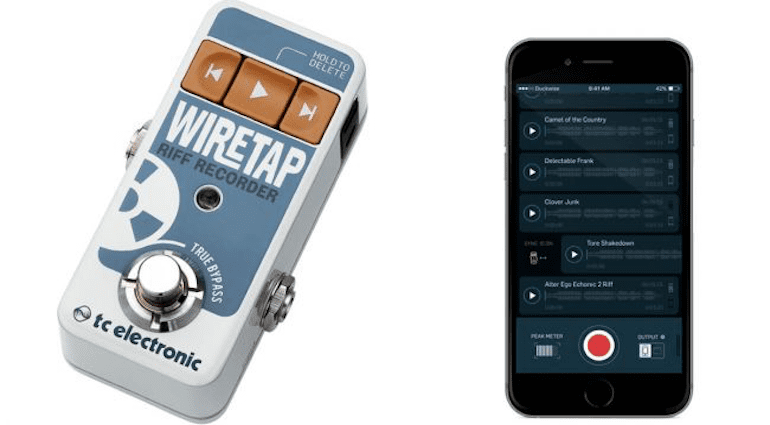 TC Electronics Wiretap Riff Recorder Apple iOS Android Bluetooth Recorder