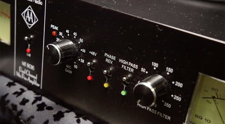 Advanced Audio MT8016 Pre-amp Close up