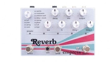 Empress Effects Reverb pedal SD card 24bit boutique FX pedal