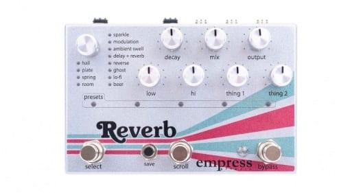 Empress Effects Reverb pedal SD card 24bit boutique FX pedal