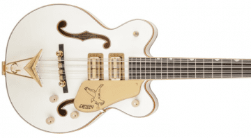 USA Custom Shop Tom Petersson Signature 12-String Falcon Bass and G6136B-TP-AWT Tom Petersson Signature 4-String Bass