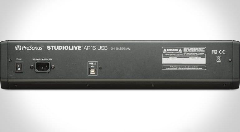 Presonus StudioLive AR16 Rear