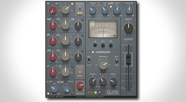 TBProAudio CS-3301 Channel Strip Plugin