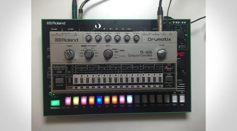 Roland TR-8 and Drumatix TR-606