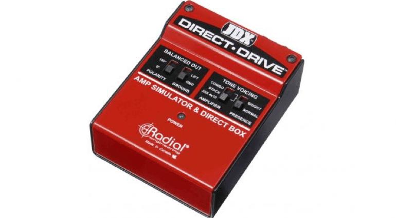 JDX Direct Drive DI Box 4x12 2x12 Shure SM57 microphone Radial