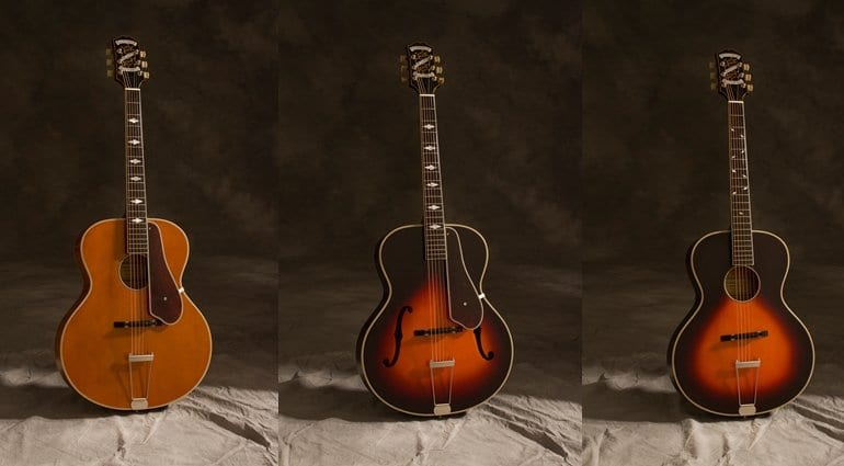 epiphone premieres masterbilt century archtop series. Black Bedroom Furniture Sets. Home Design Ideas