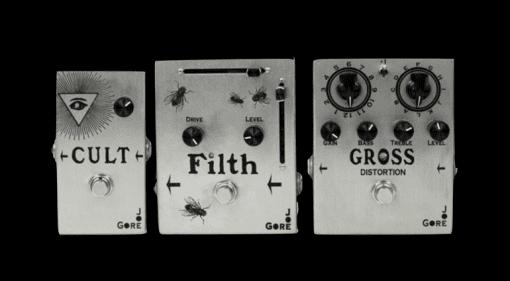 Joe Gore Pedals Cult Filth Gross Fuzz Distortion boutique Pedals USA Drive