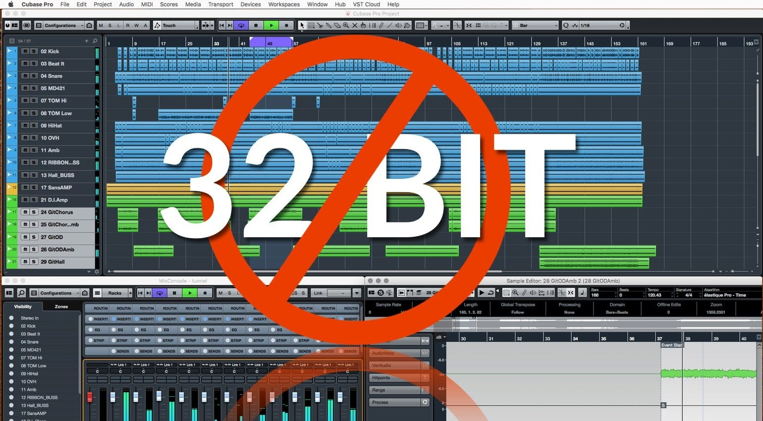 It's not just removing support for 32 bit plug-ins, there will be no more  32-bit versions