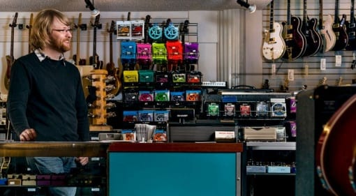 Unrelated image of the counter in a music shop