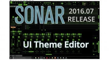 Sonar skinned with the Theme Editor
