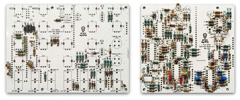 Erica Synths DIY Synth Voice PCBs