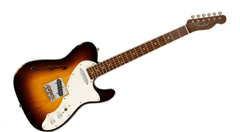Fender '50s Thinline with more silly looking fake markings