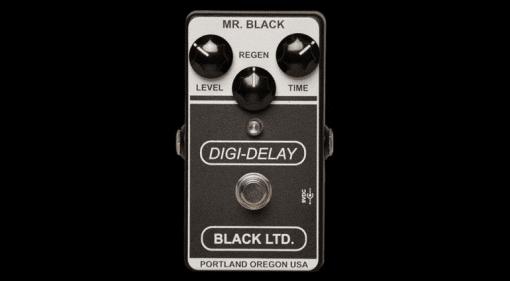 LTD Digi-Delay Mr Black limited edition boutique pedal fx guitar bass
