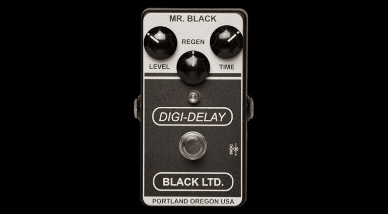 LTD Digi-Delay Mr Black limited edition boutique pedal fx guitar bass
