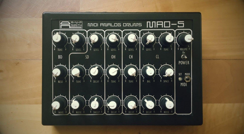 Drum Machine Midi : mad 5 midi analogue drum machine from avp synthesizers ~ Hamham.info Haus und Dekorationen