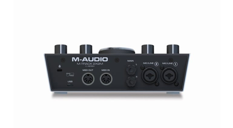 M-Audio M-Track 2X2M rear connections