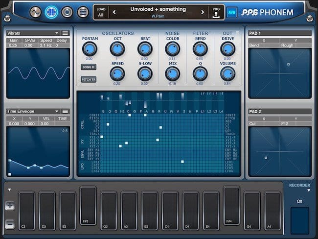 Wolfgang Palm's PPG Phonem iOS Apple iPad