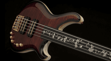 PRS private Stock 5 string fretless Gary Grainger Bass
