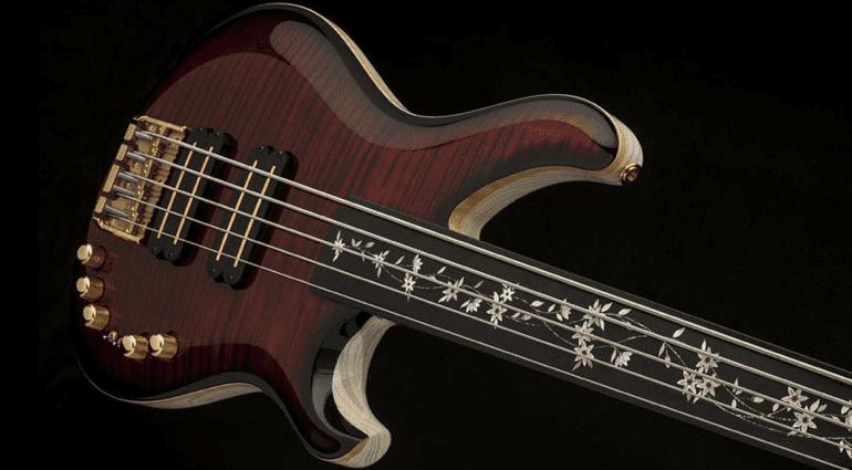 PRS private Stock 5 string fretless Gary Grainger Bass