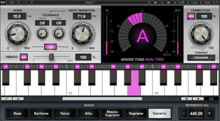 Waves Tune Real-Time plugin